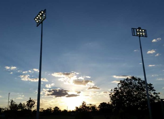 Lightning Ridge netball courts benefit from LED lighting